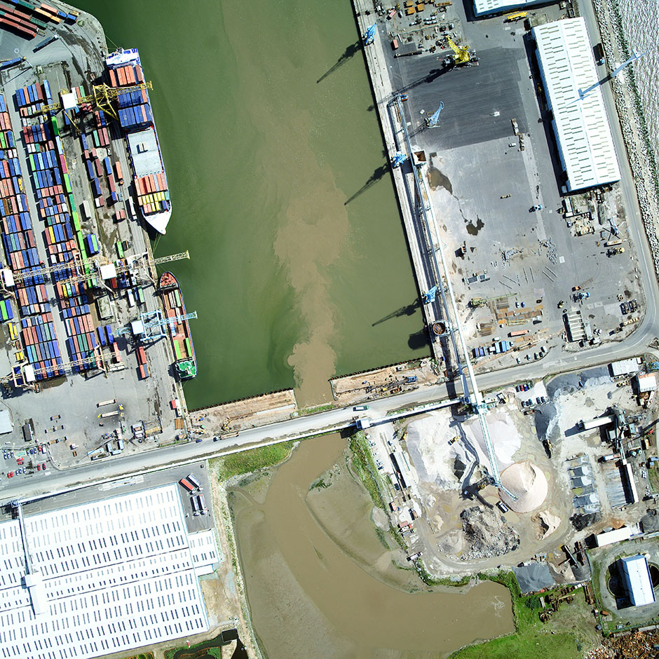 Aerial view of Royal Seaforth Dock.
