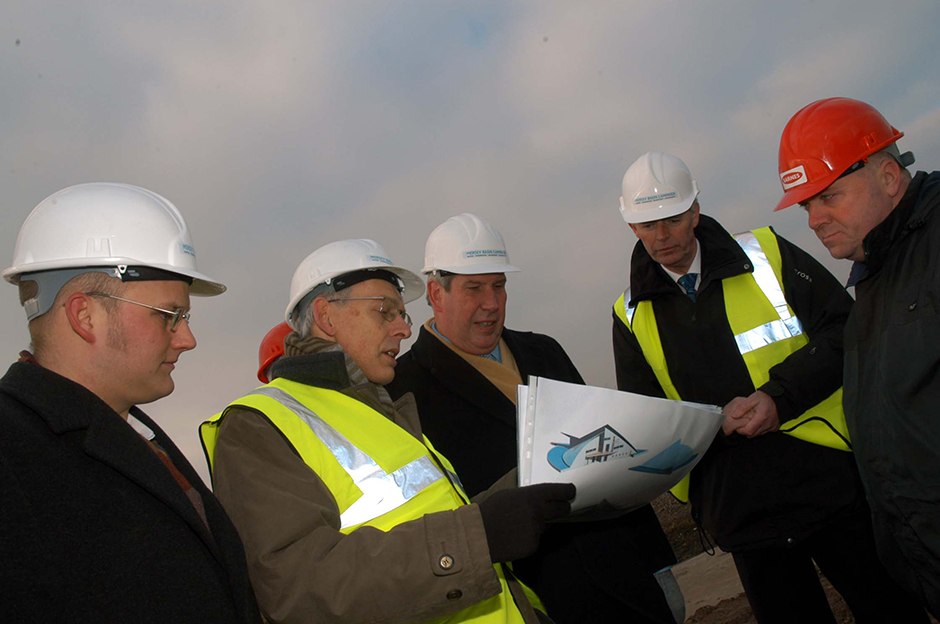 Elliot Morley, then Minister for Environment and Agri-Environoment, on a site visit to Speke and Garston Coastal REserve, 2006.