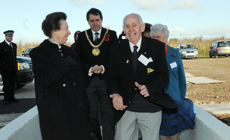 Tom Workman and the Princess Royal at the opening of Liverpool Sailing Club's new clubhouse, November. 2008